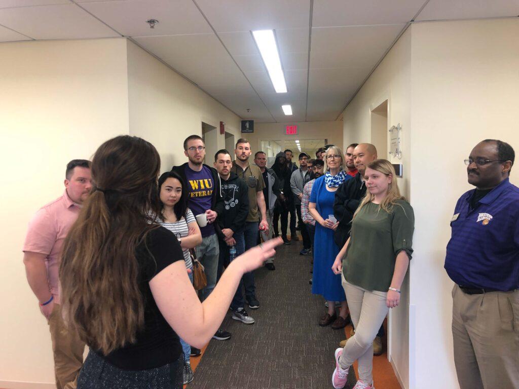 Illinois Community College students visit the Chez Center